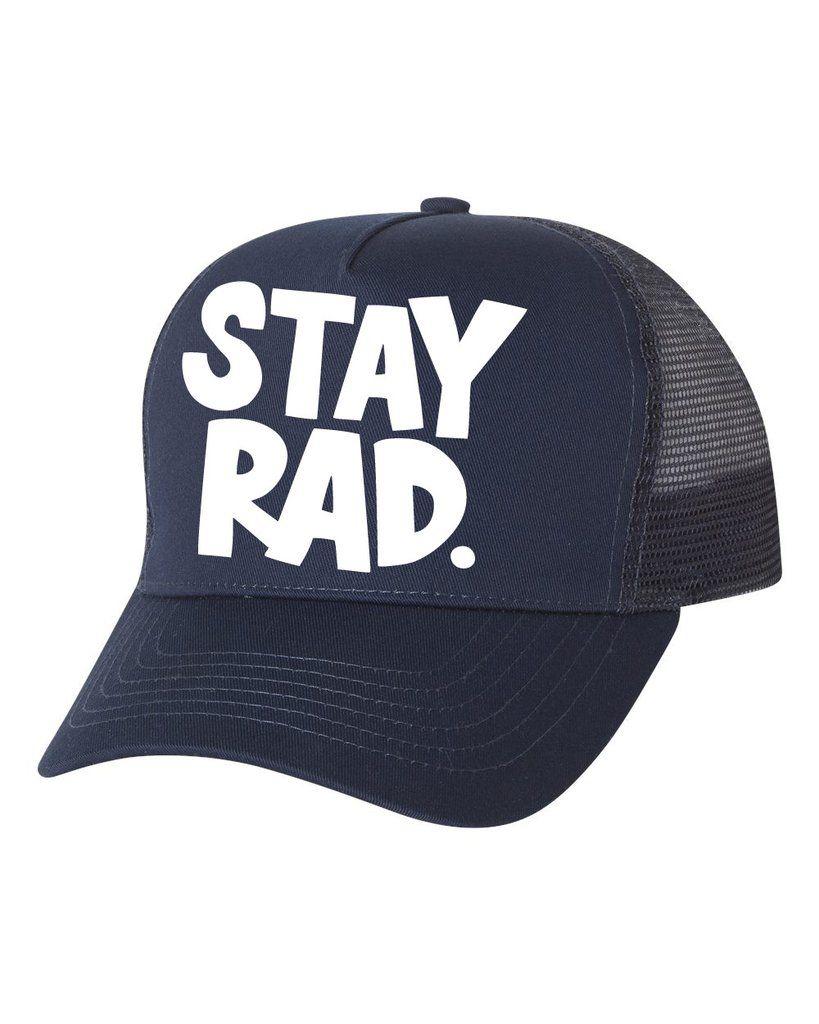 7d0cc3a51 Stay rad logo cap - all navy trucker | Trucker/Snap Backs | Cap ...