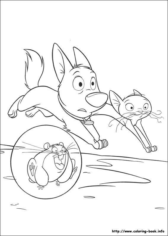 Bolt characters coloring pages for kids, printable free | 794x567