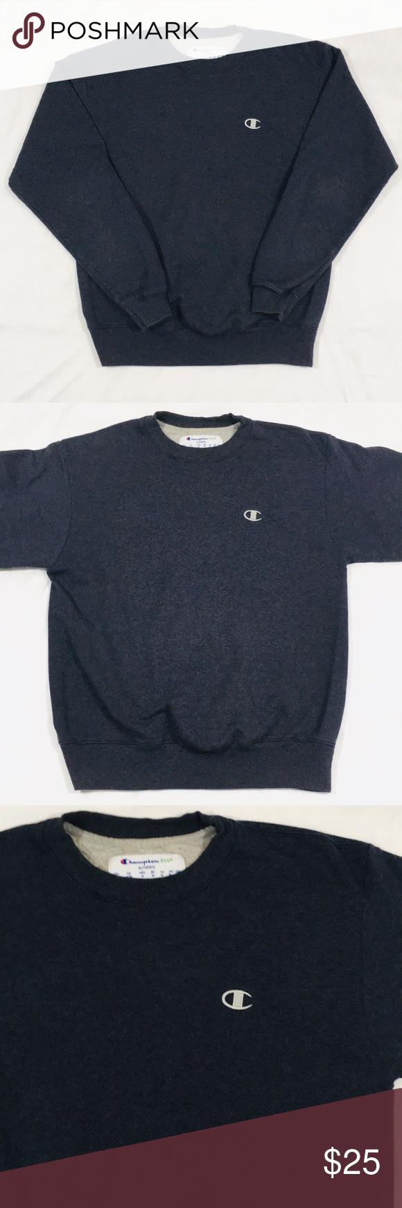 Vintage Champion Embroidered Crewneck Sweater Embroidered Crewneck Clothes Design Crew Neck Sweater [ 1740 x 580 Pixel ]