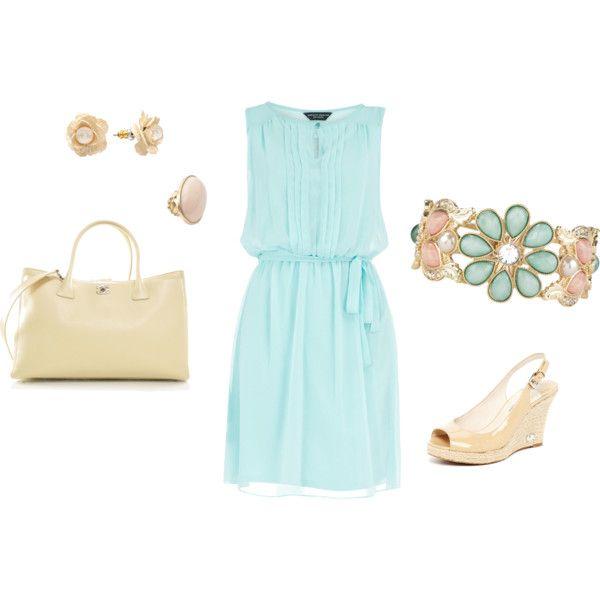 Light Blue Dress Outfit