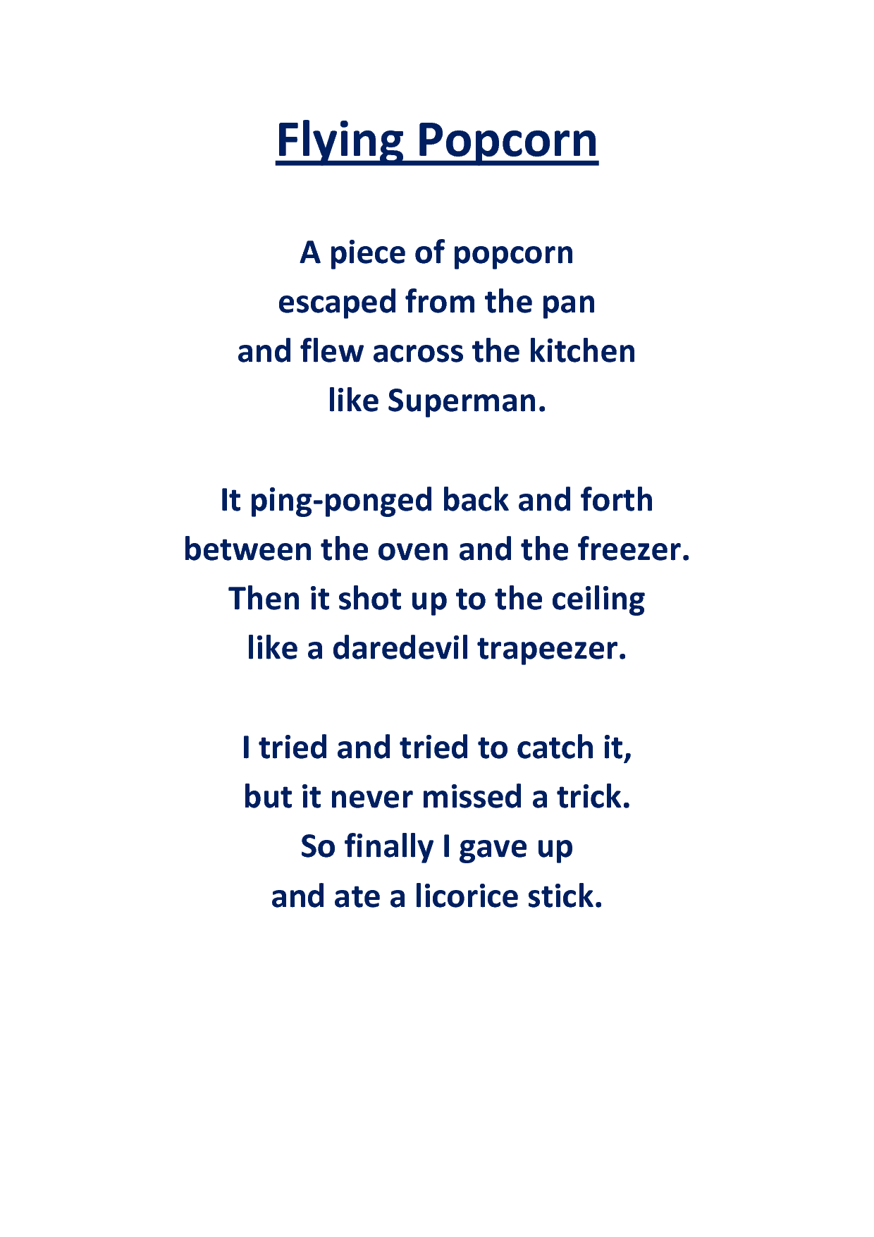 The Popcorn Poem (With images) | Short poems for kids ...