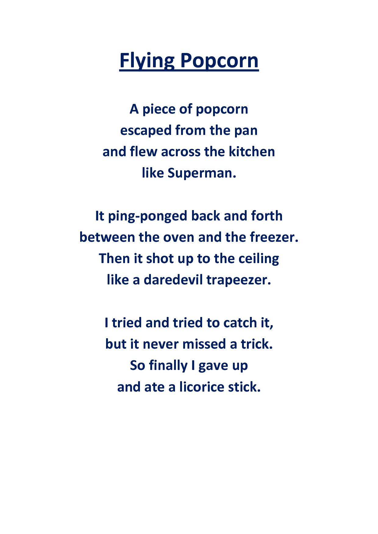 The Popcorn Poem