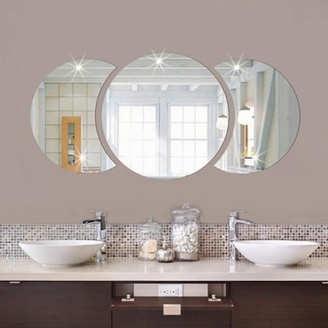 3 09 removable round mirror decal art mural wall stickers home decor diy room decor ebay home garden