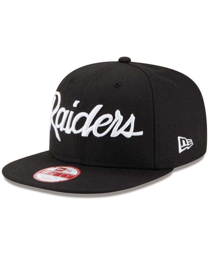 d0bd4308 New Era Oakland Raiders Lids 20th Anniversary Script 9FIFTY Snapback Cap