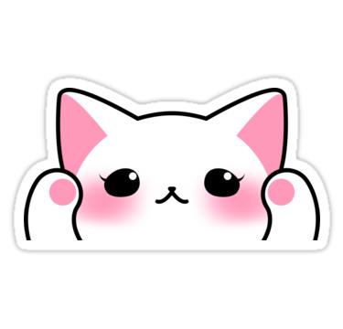 White Cat Face Sticker By Candypeach In 2021 Cute Stickers Face Stickers Cat Stickers
