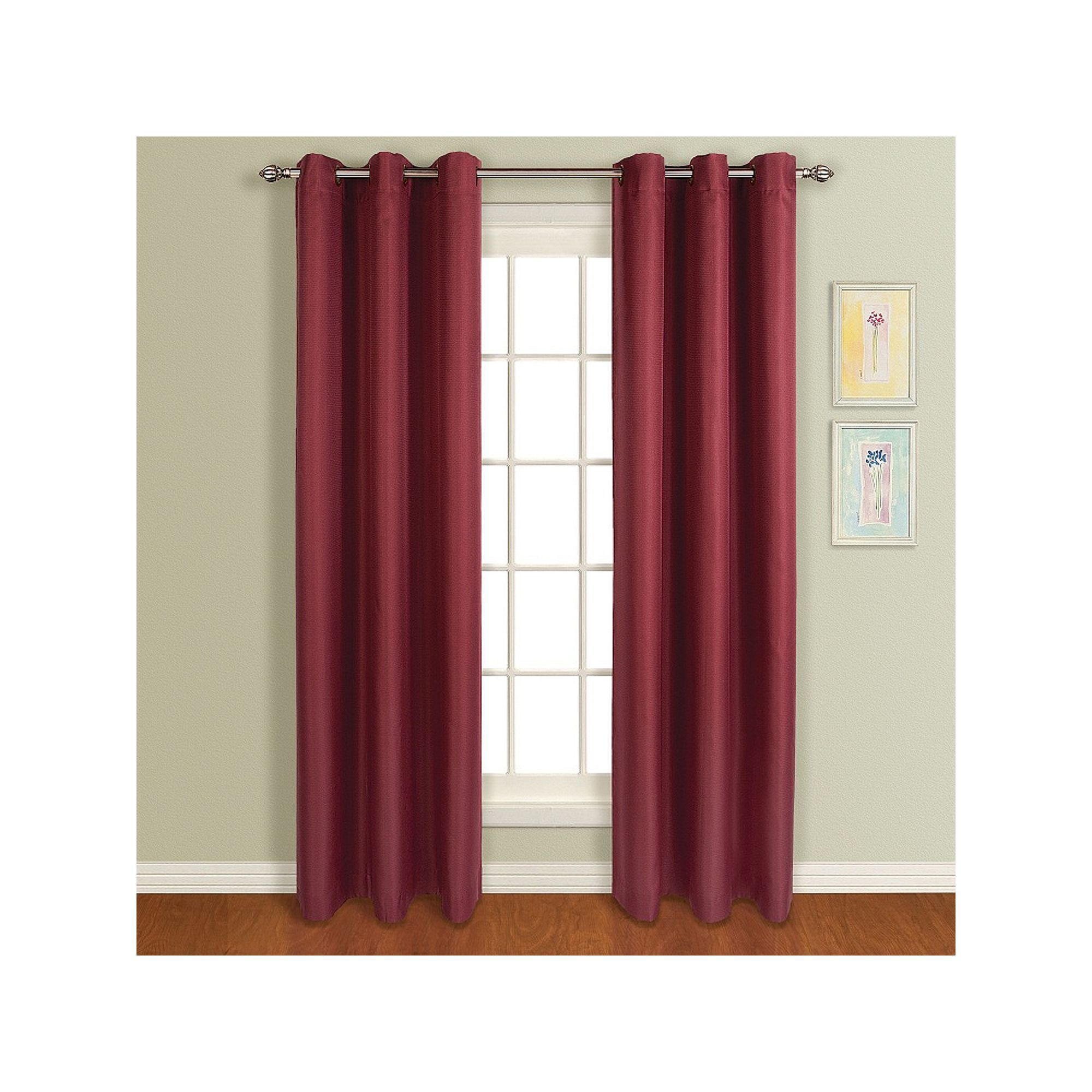 United Curtain Co Dupioni Silk 84 Inch Rod Pocket Blackout Window