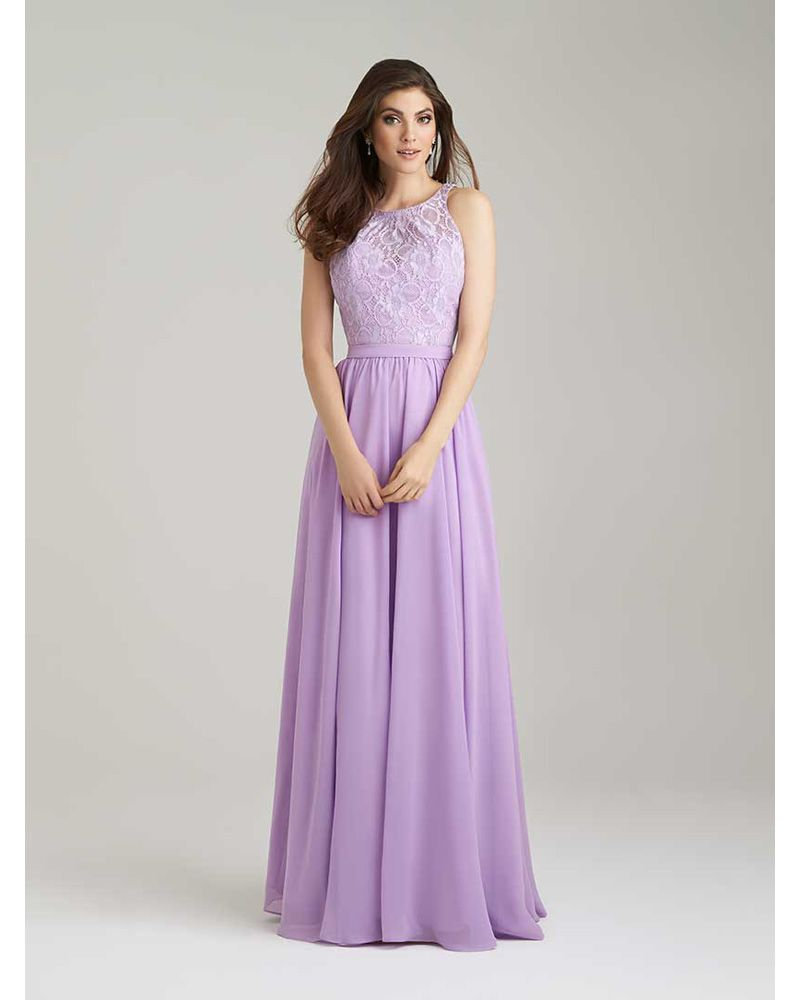 Aliexpress.com : Buy Lavender Bridesmaid Dresses Long Chiffon with ...