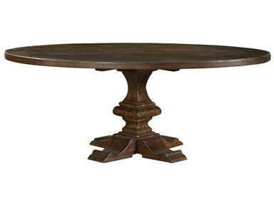 Bernhardt Interiors Dining Room Wood Plank Oval Table Top