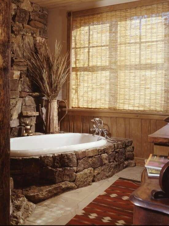 Rustic Badezimmer Rustikal Badewanne Verkleiden Rustikale Bader