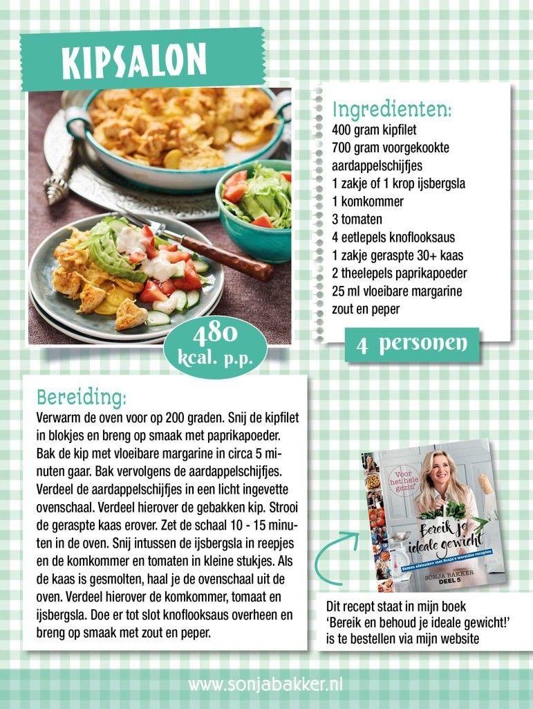 gratis recepten van sonja bakker