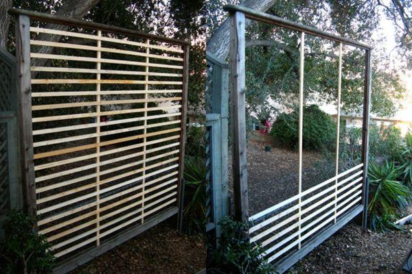 wandbegrünung Sichtschutz selber bauen Garten Ideen Pinterest