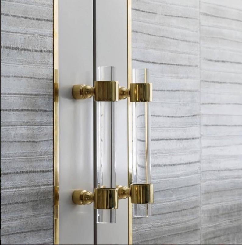 Polished Gold Door Handle Hardware