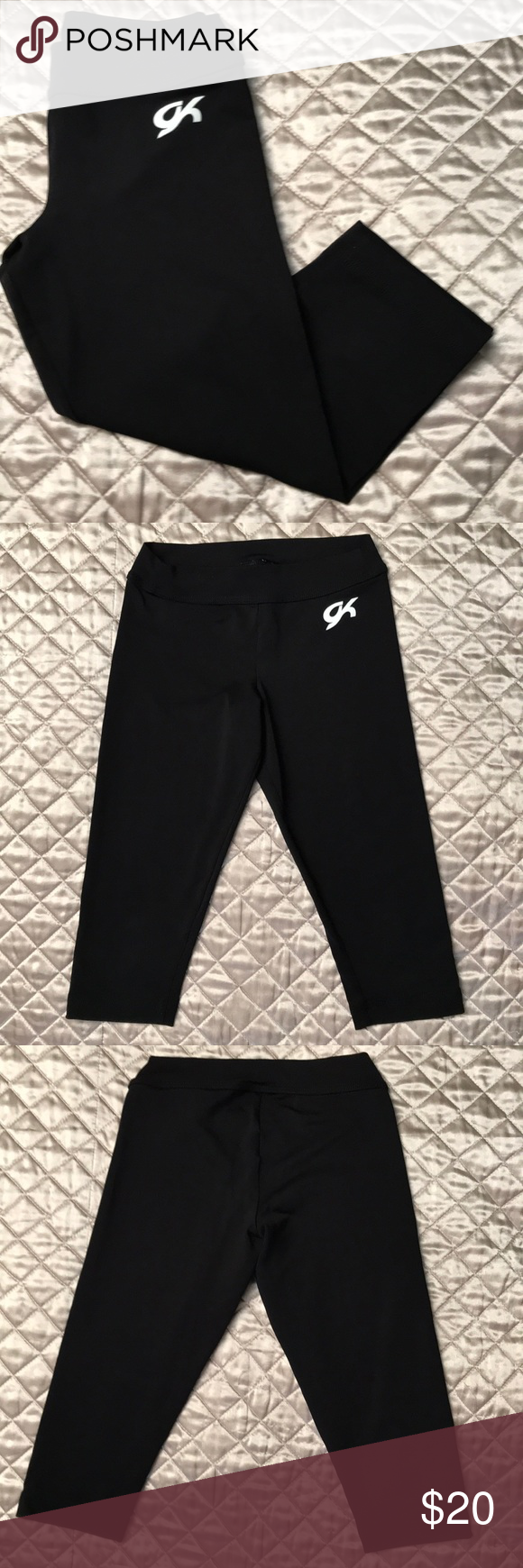1a6edb9c8a8f9 NWOT GK ELITE CAPRI LEGGINGS SIZE CL BLACK GK is the best in Gymnastics  Apparel. Never used! Perfect condition. Child Large. GK Bottoms Leggings