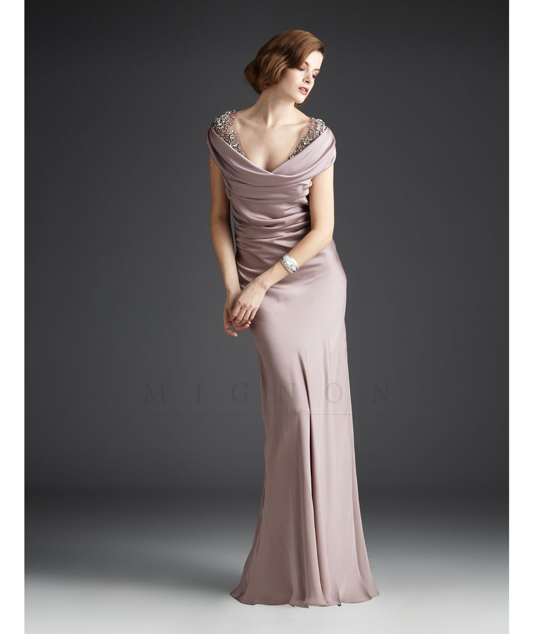 b9ec7d1e5d Mignon Fall 2013- Quartz Embellished Draped Gown - Unique Vintage - Prom  dresses