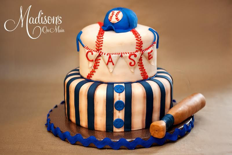 I Created This Vintage Baseball Themed Baby Shower Cake For A Little