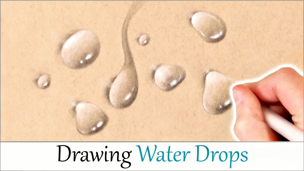 How to draw realistic water drops easy step by step drawing tutorial fo