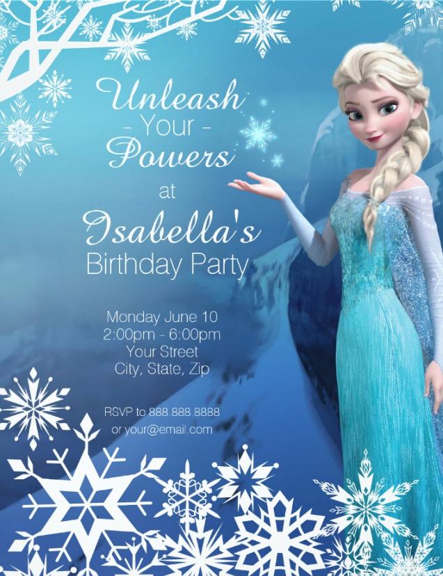 Frozen Elsa Birthday Party Invitation Zazzle Com In 2019