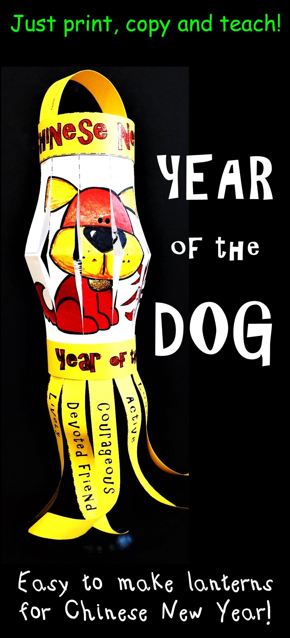 Chinese New Year Lantern 2018 Year Of The Dog Craft Dog