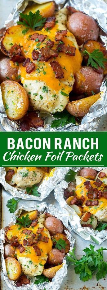 Bacon Ranch Chicken Foil Packets   Chicken in Foil   Foil Packet Recipe   Ranch Chicken