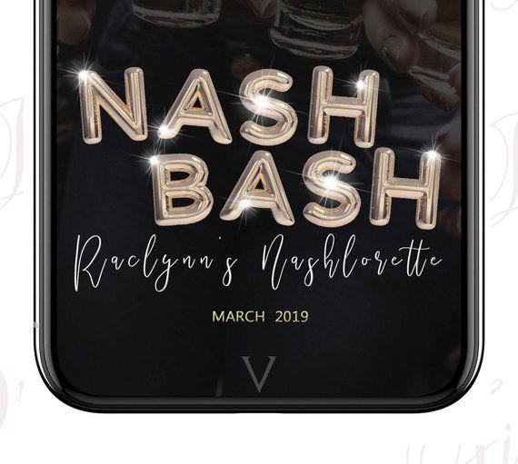 Nash Bash Snapchat Geofilter, Nashville Bachelorette