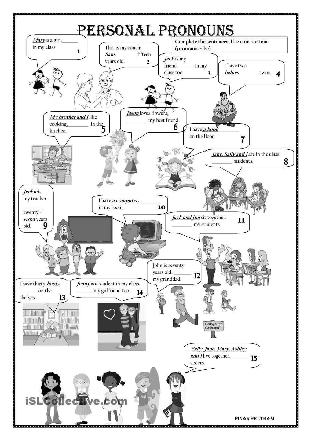 Possessive Pronouns Esl Worksheet Picture And Images