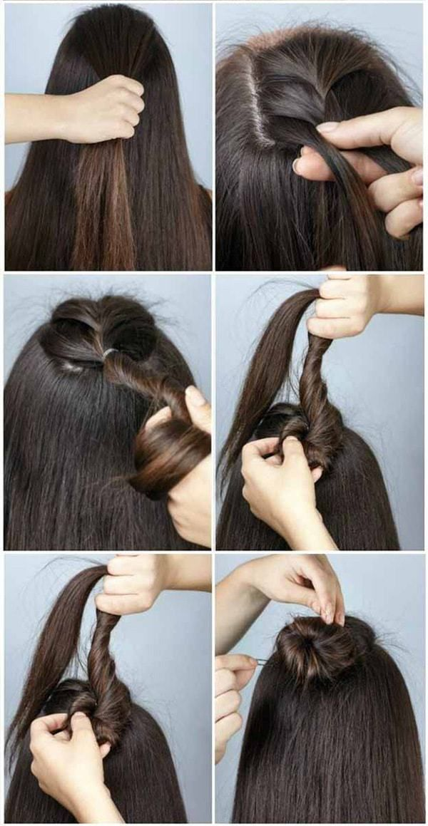 Hairstyles Step By Step Very Simple And Beautiful For School Trendstutor Easy Hairstyles Hair Styles Medium Hair Styles