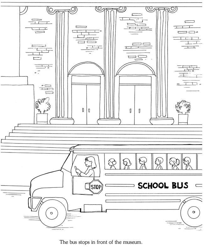 The Art Museum A Sticker Story Coloring Book Dover Publications Dover Publications Coloring Pages For Kids Coloring For Kids