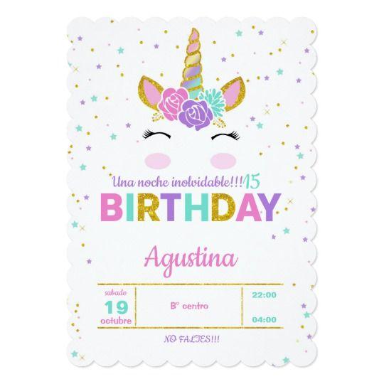 Magical Unicorn Birthday Party Invitation Zazzle Com Unicorn Birthday Parties Unicorn Birthday Party Invitation Birthday Party Invitations