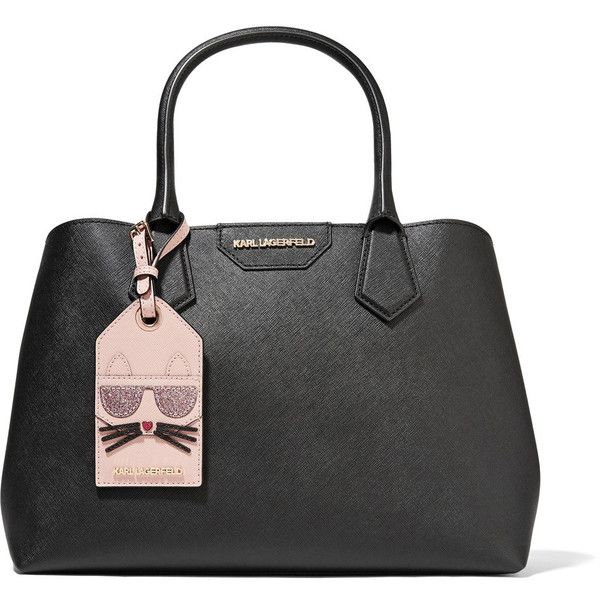 Karl Lagerfeld Sac A Main En Cuir Texture Lady Shopper 215 Via Polyvore Featuring Bags Handbags And Tot Shopping Tote Bag Cats Tote Bag Structured Handbags
