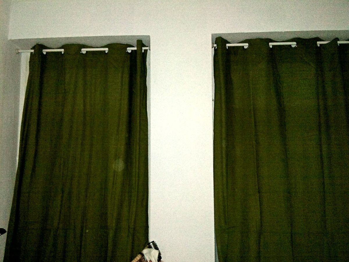 Hanging Curtains Without Drilling With ORE Shower Curtain Rod   IKEA Hackers