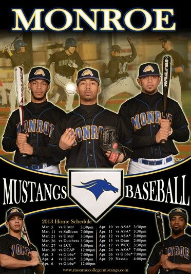 Baseball 2013 Home Schedule Baseball Sports Monroe College