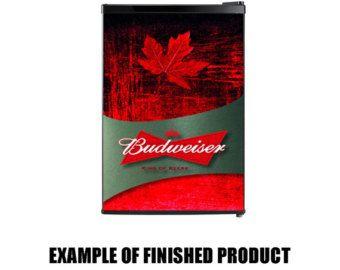 Budweiser Fridge Decals/ Fridge Decals / Budweiser Fridge Wrap / Budweiser Beer Decals / Budweiser Stickers / Budweiser Decals / Budweiser