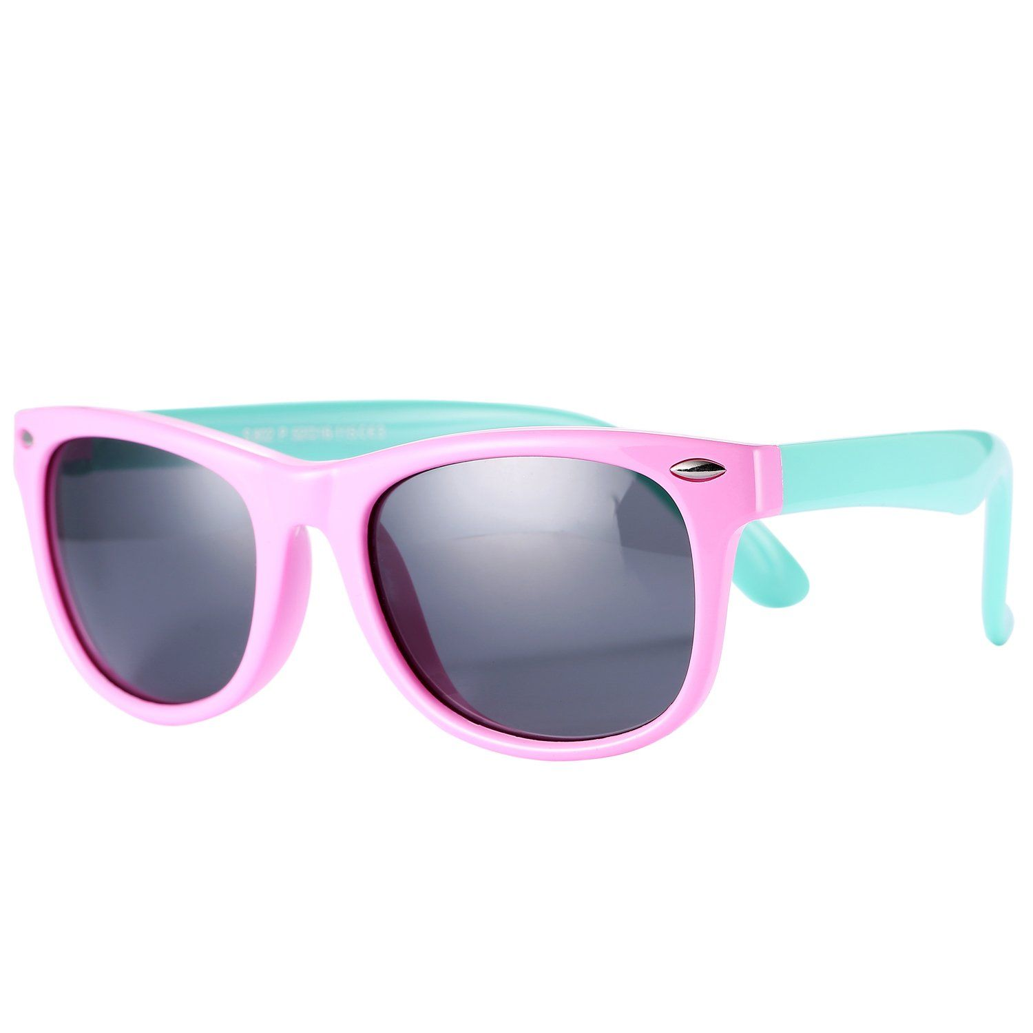 2cdc5f74486 Pro Acme TPEE Rubber Flexible Kids Polarized Wayfarer Sunglasses for Baby  and Children Age 3 -