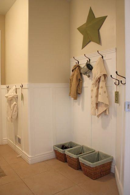 laundry room/mud room wall