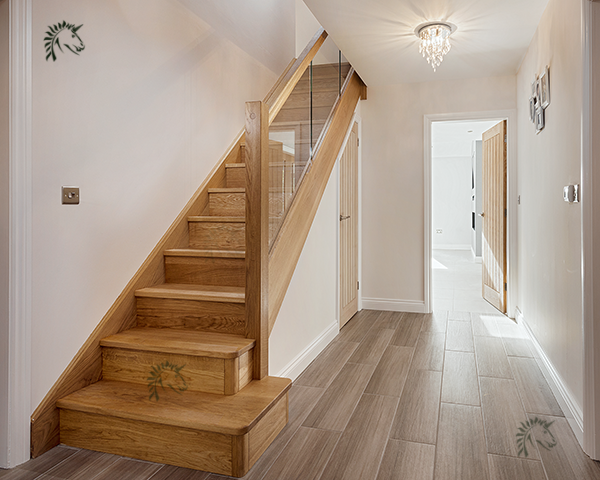 Best Preston Oak Staircases With Glass Balustrading Staircase 400 x 300