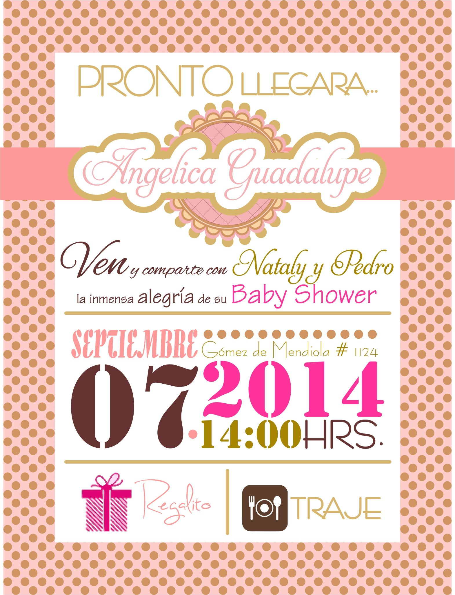 Invitacion baby shower ni±a bby Pinterest