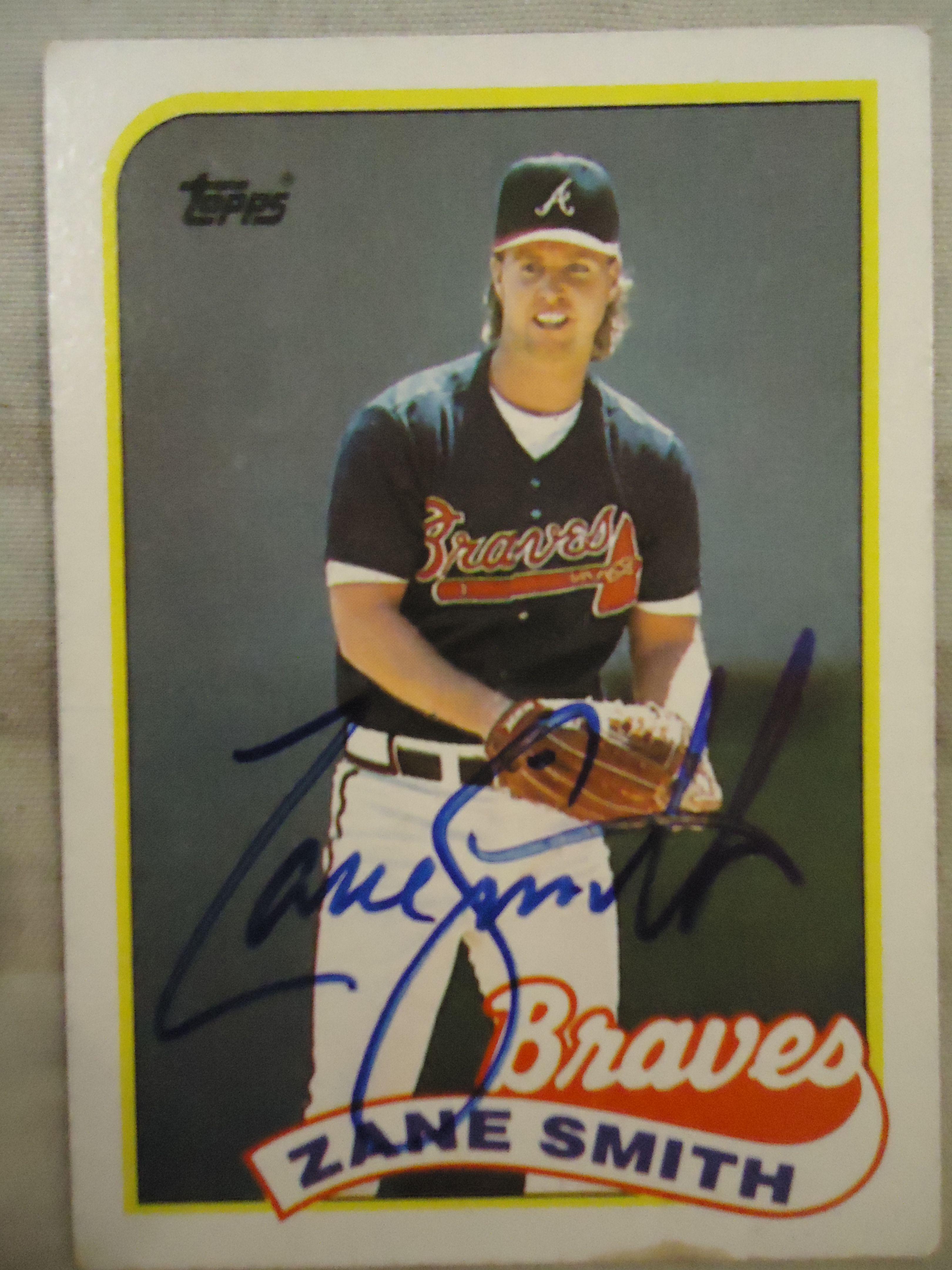 1989 Topps 688 Zane Smith Ttm Braves Baseball Cards Atlanta Braves