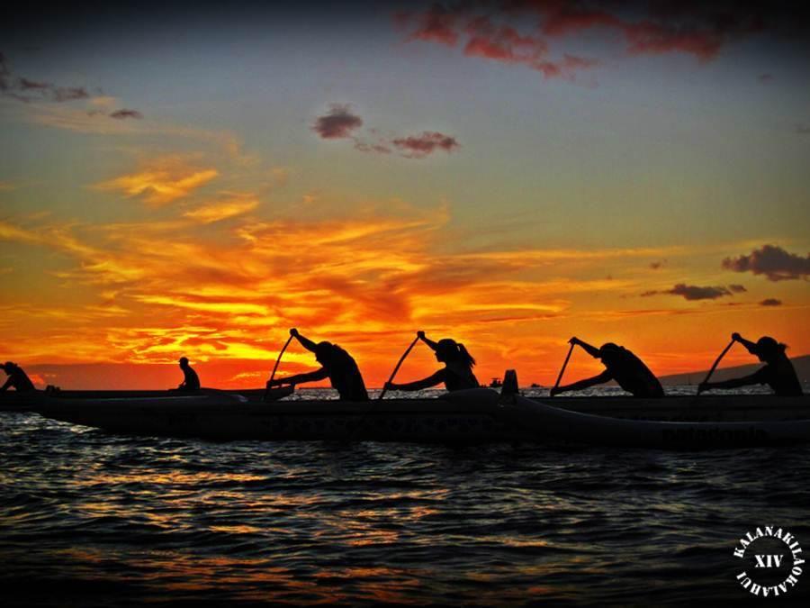Wahine's of Waikiki Beach Boy Canoe Club. Outrigger