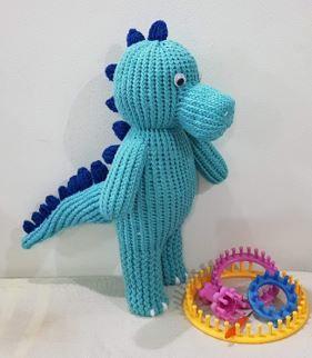 Loom Knit Super Dino