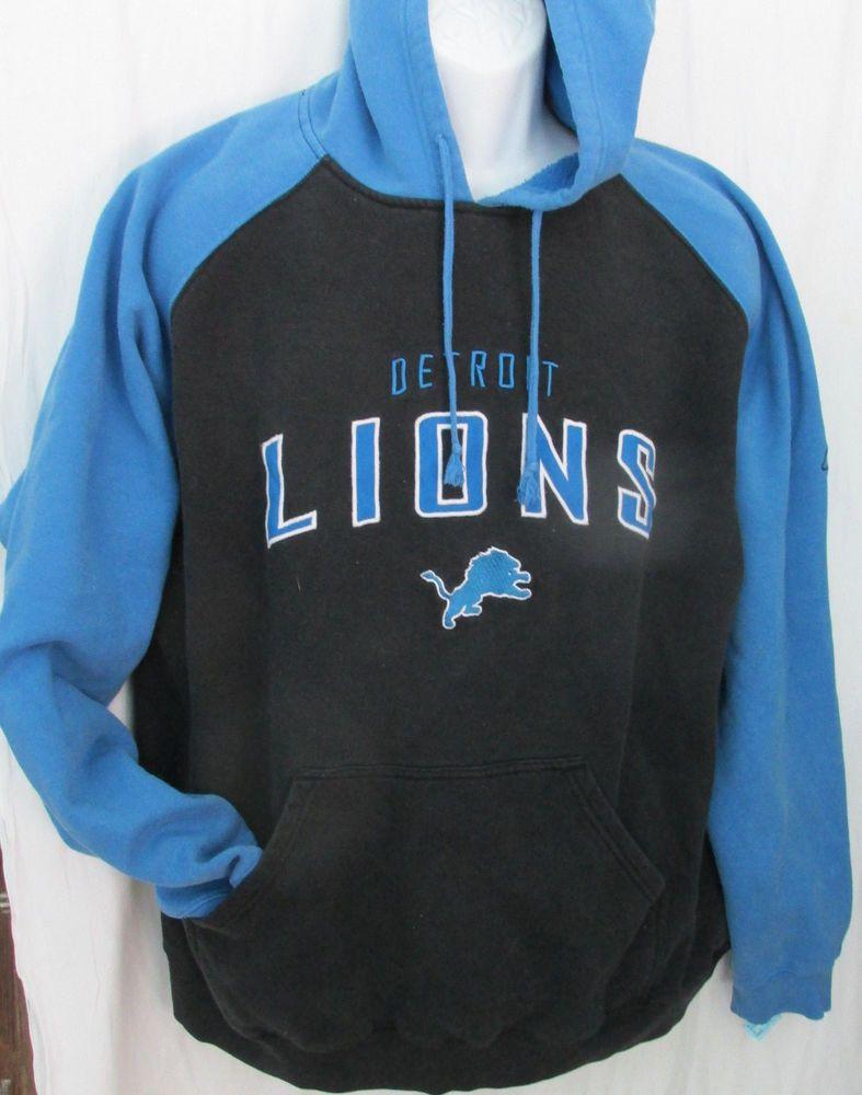 b11727a6 MENS VINTAGE DETROIT LIONS REEBOK RETRO BLUE SWEATSHIRT L LARGE ...