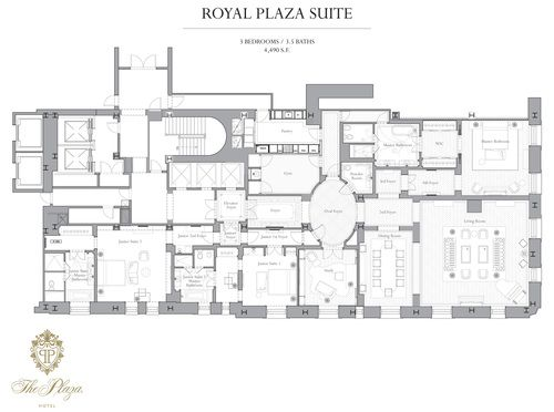 Behold The Plaza S Epic Multi Foyered Hotel Suite Floorplan