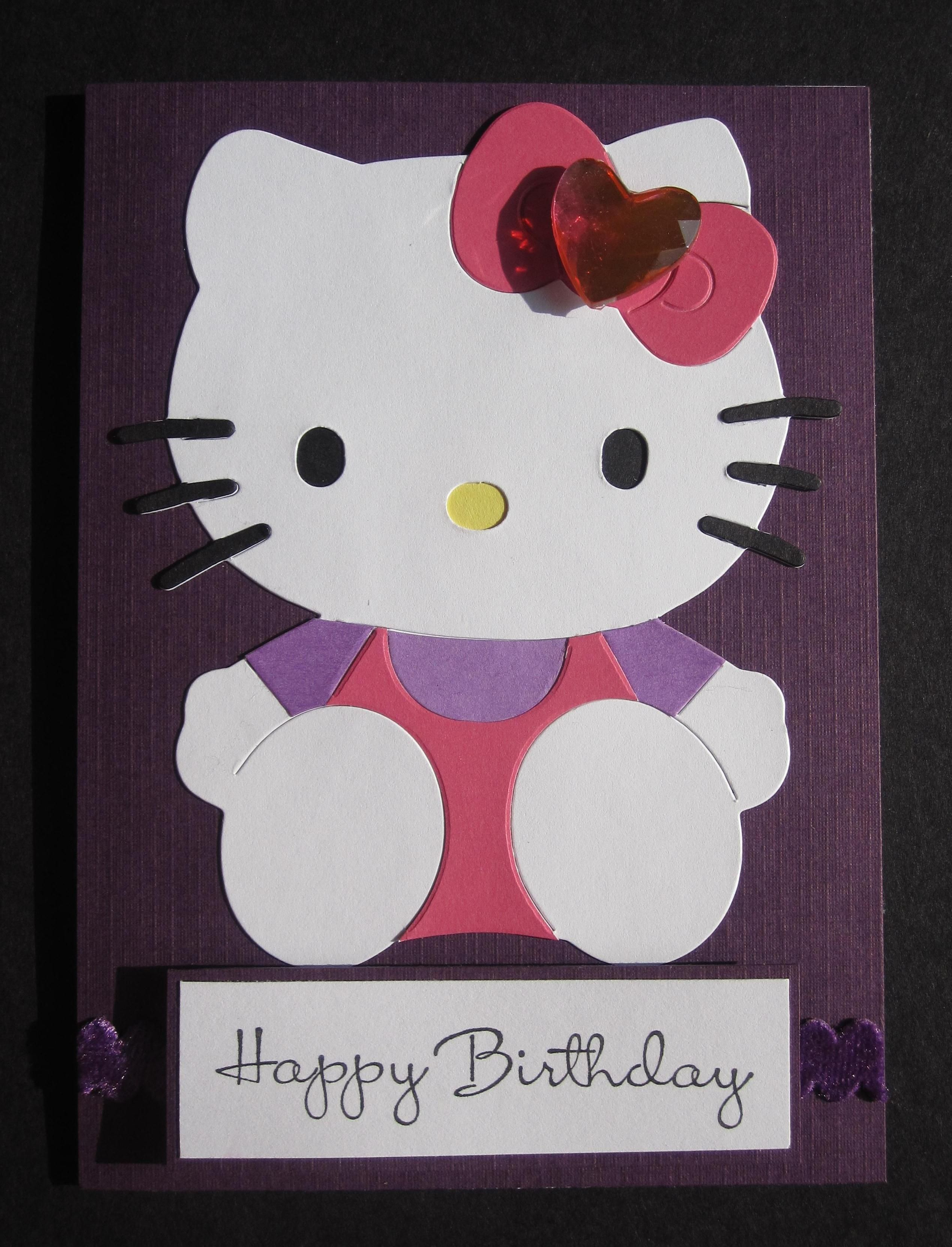 Anything Scrappy Designs Hello Kitty Birthday Party Birthday Cards Diy Kids Cards