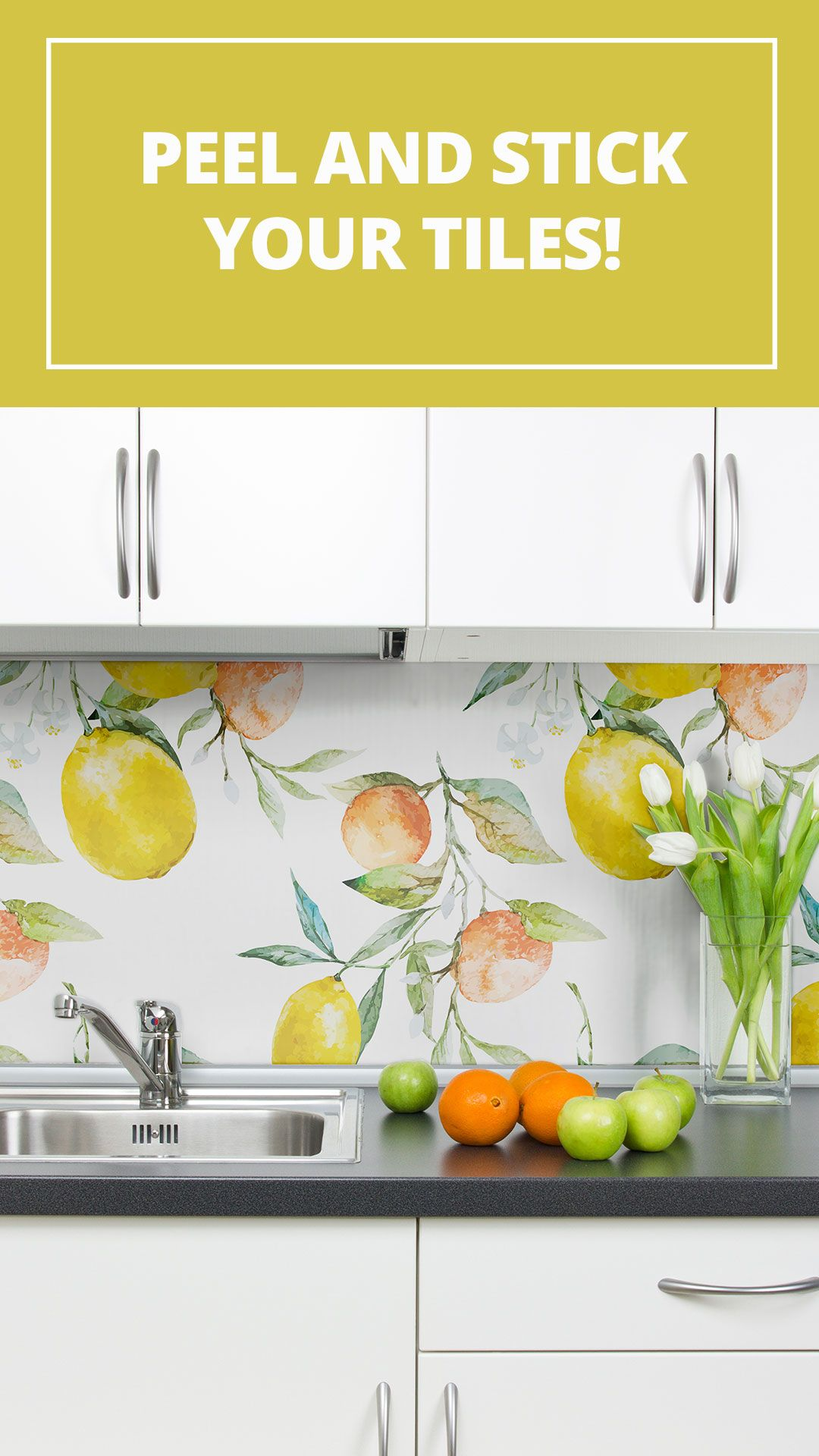 Beyond The Wall 5 Creative Uses Of Peel And Stick Wallpaper Removable Wallpaper Kitchen Kitchen Wallpaper Simple Bathroom Decor