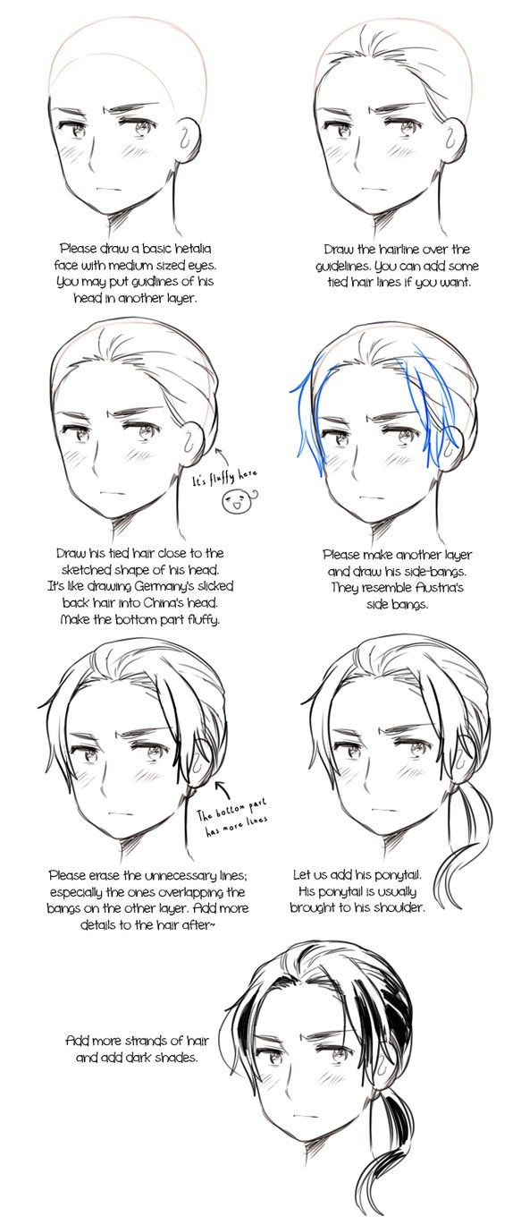 From an ask in my Hetalia tumblr asking for a Norway hair reference ...