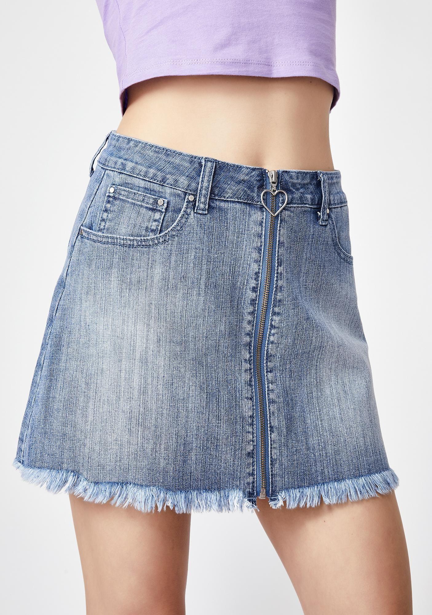 2294c4993 Sugar Thrillz Rich In Love Denim Skirt | Dolls Kill #dollskill  #sugarthrillz #spoiled #2000 #y2k #princess #demin #skirt