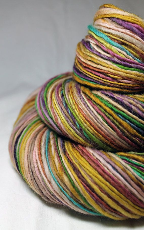 Handspun Yarn Gently Thick and Thin DK Single by SheepingBeauty, $42.00