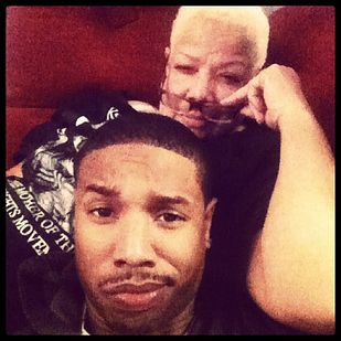 He also takes adorable selfies with his mom.   Let's All Just Take A Few Moments To Appreciate Michael B. Jordan