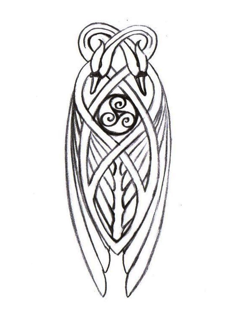 Knotwork swan detail for Celtic harp | Art, Design and Typography ...