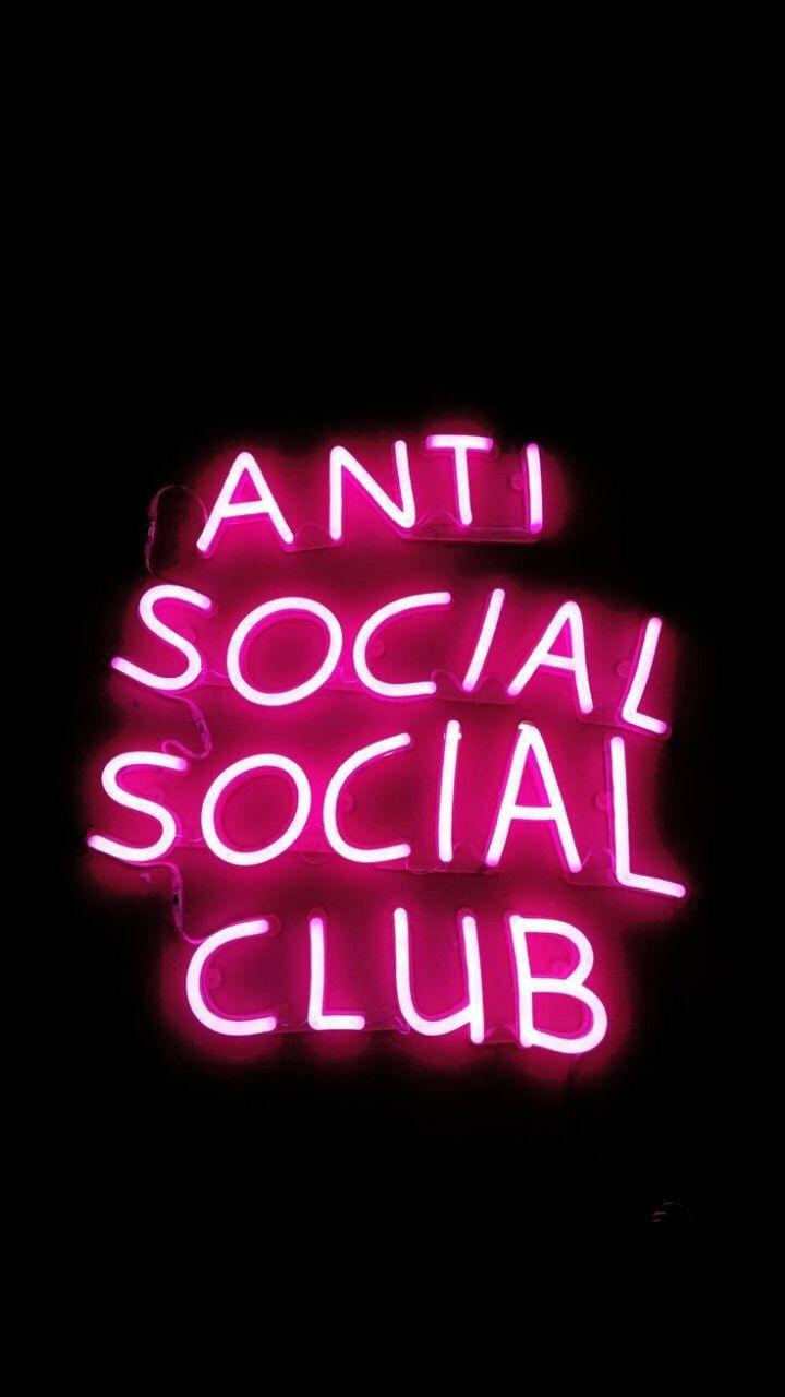 Anti Social Social Club Wallpaper Iphone Neon Pink Neon Wallpaper Neon Wallpaper