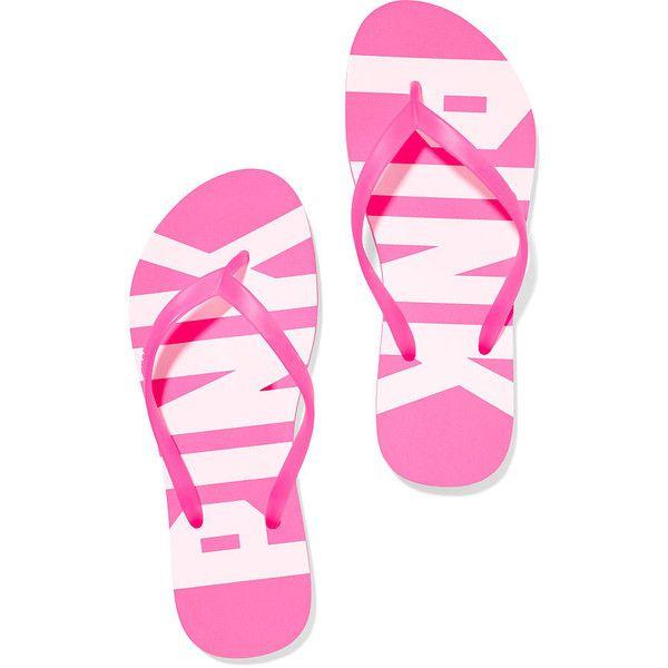 5751493fb2fc Victoria s Secret PINK Flip-Flop Shoes found on Polyvore